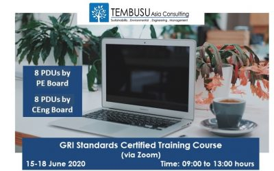 Announcing our GRI Standards Certified Training Course on 15–18 June 2020