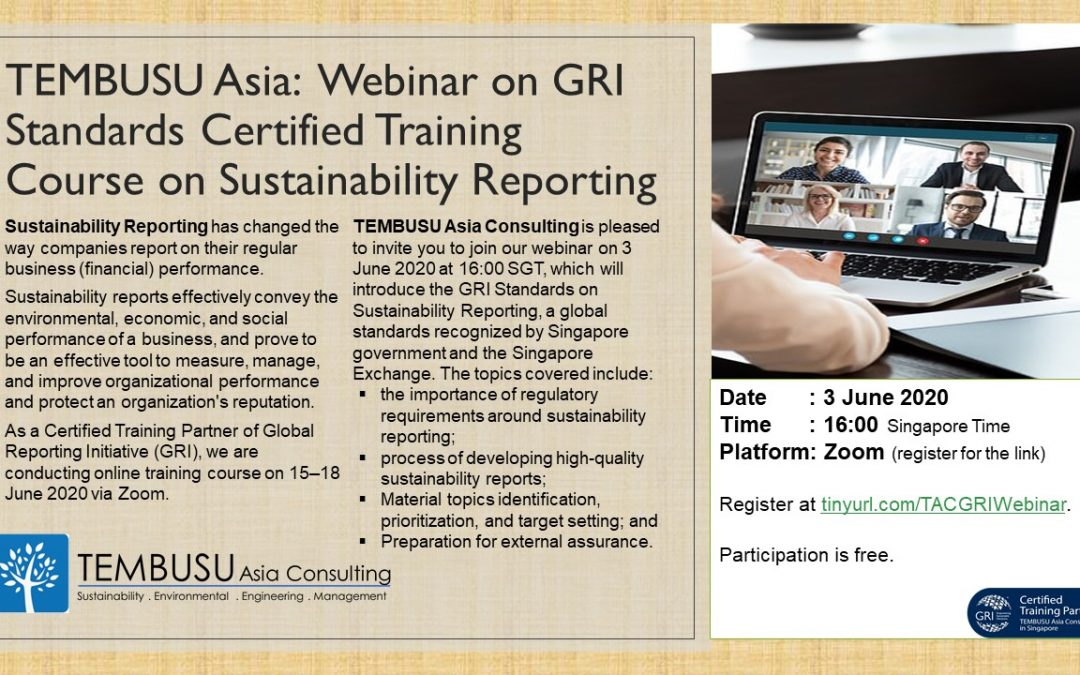 Webinar on GRI Standards Certified Training Course (free)