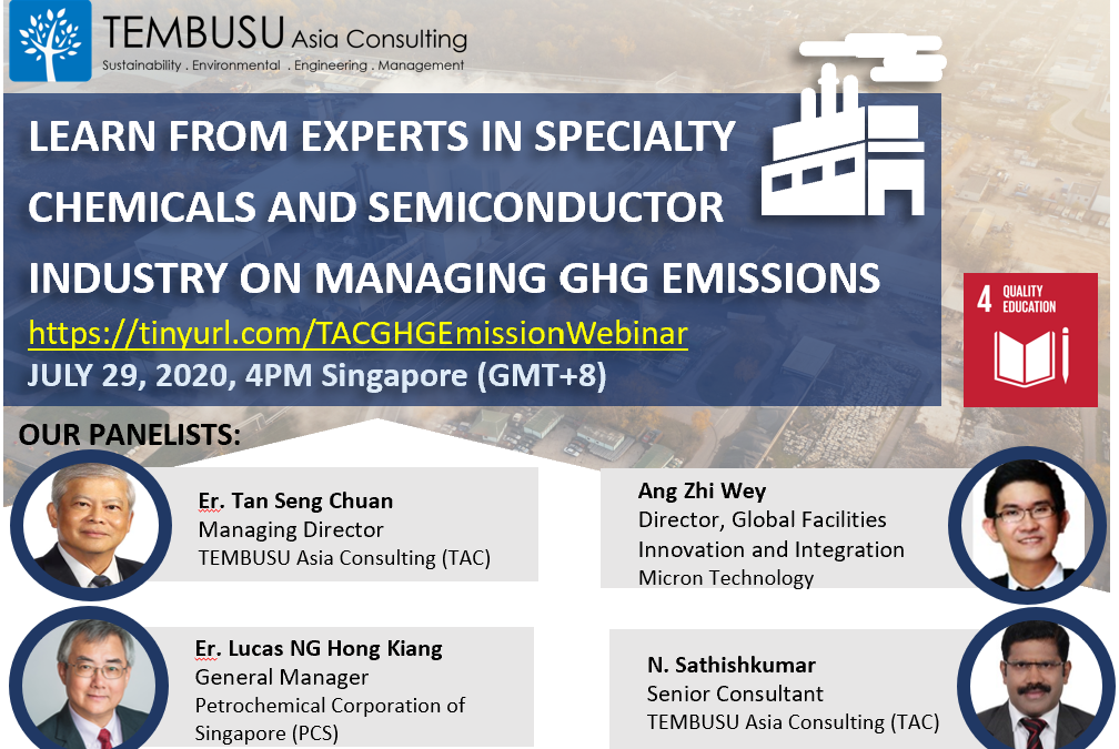 29 July 2020 webinar on GHG Emissions Management