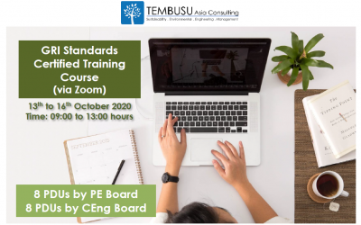 Announcing our GRI Standards Certified Training Course on 13-16 Oct 2020