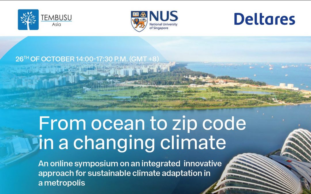 "26 October 2020 symposium – ""From ocean to zip code in a changing climate"""
