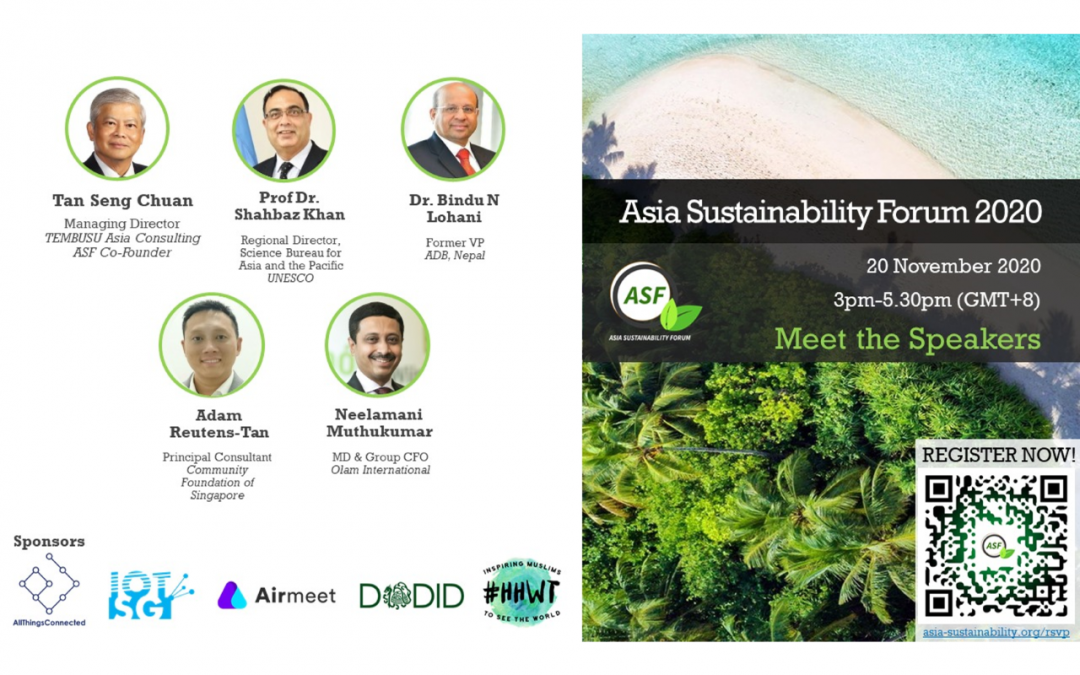 Asia Sustainability Forum 2020 on 20th November