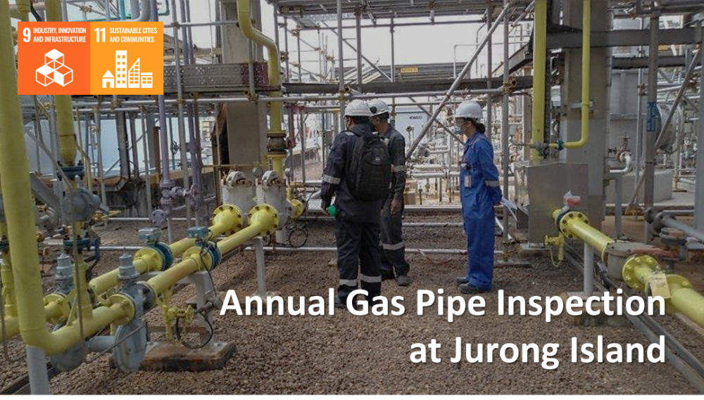 Annual Gas Pipe Inspection at Jurong Island