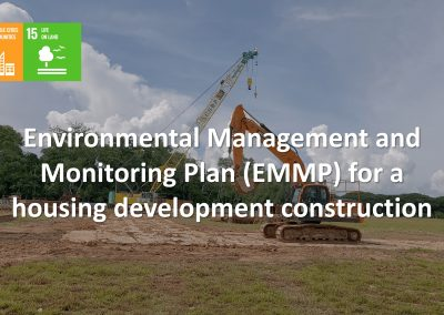 EMMP project for the construction of housing development in Pasir Ris