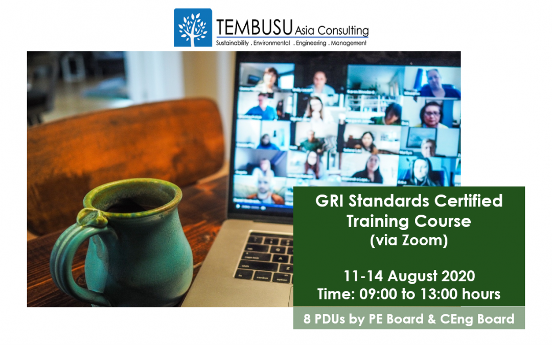 Announcing our GRI Standards Certified Training Course on 11-14 Aug 2020