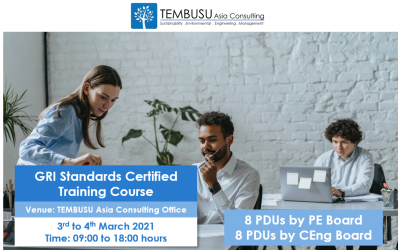 ANNOUNCING OUR FIRST PHYSICAL GRI STANDARDS CERTIFIED TRAINING COURSE ON 3-4 MAR 2021