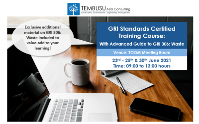 UPCOMING GRI STANDARDS CERTIFIED ONLINE TRAINING COURSE CONDUCTED ON 23-25 & 30 JUNE 2021